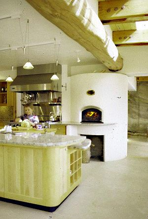 custom bake oven and fireplace