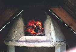 Backyard adobe oven