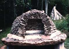 Adobe oven before final covering