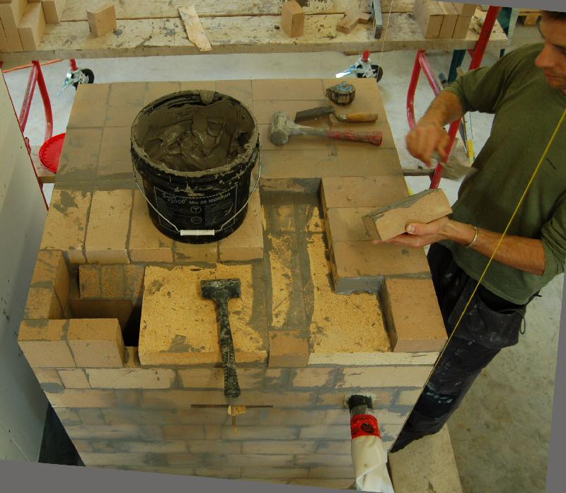 Experimental masonry hydronic heating workshop