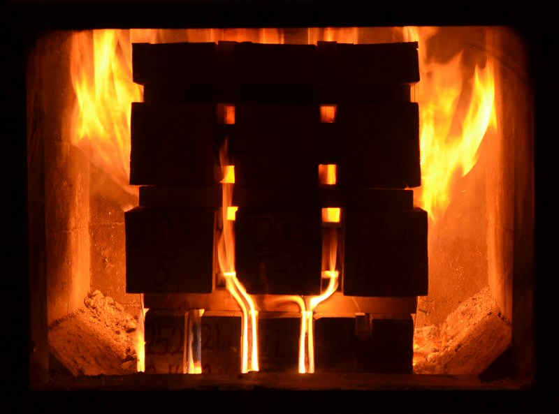 Masonry Heater testing at Lopez Labs